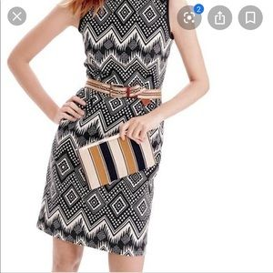 Jcrew Black Diamond Ikat Dress